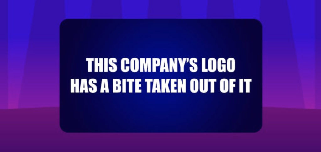 This company's logo has a bite taken out of it